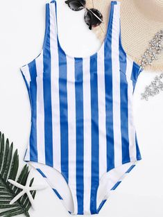 1af1b476343d2 Red Stripe One Piece Swimsuits