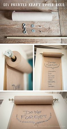 DIYKraftPaperRoll_www.brooklynlimestone.com by MrsLimestone, via Flickr