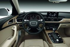Audi A6 2013 interior ... love the 2 clocks wide apart from each other in the dashboard