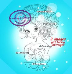 Digital Stamp Digi Digistamp Emma Rose By Conie Fong Coloring Page