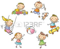 Illustration about Happy cartoon kids playing outdoors. School Cartoon, Happy Cartoon, Cartoon Kids, Cartoon Images, Cute Cartoon, Drawing School, Drawing For Kids, Art For Kids, Clipart