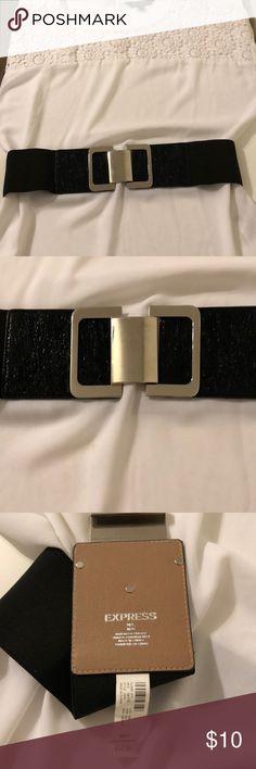 b93cbe00751e Express Belt Black and Silver Express Belt. Worn once. Express Accessories  Belts Black Belt