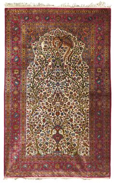 A Kashan silk prayer rug, Central Persia | lot | Sotheby's
