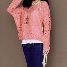 Cutout Crochet Sweater