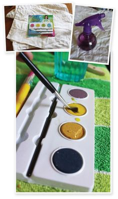 Aunt Peaches tutorial about painting fabric Watercolor Fabric, Watercolor Images, Fabric Painting, Tulip Watercolor, How To Tie Dye, How To Dye Fabric, Fabric Yarn, Dyeing Fabric, Aunt Peaches