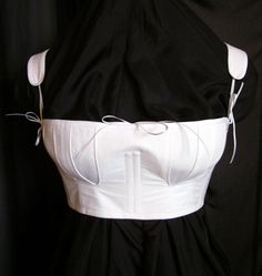 Not period for me, but I like the effect it gives. Regency Short Stays Cotton Corset Half Stays by redthreaded