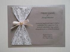 DekorÁlom az Esküvőm: DIY Csipkés Esküvői Meghívó
