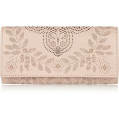 Valentino Laser-cut leather wallet found on Polyvore