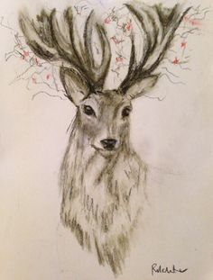 Drawing With Charcoal Stag orginal charcoal drawing: an amazing drawing truly stunning. Amazing Drawings, Love Drawings, Easy Drawings, Animal Drawings, Pencil Drawings, Pencil Drawing Tutorials, Drawing Ideas, Drawing Tips, Human Figure Drawing