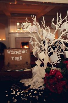 Claire and Jims 1950s American Gangster Themed Wedding by Assassynation - wish tree