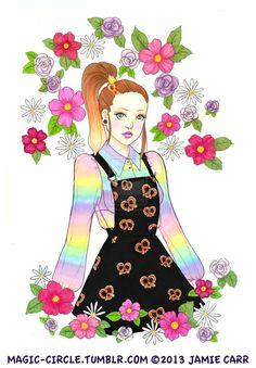 Rainbow Pretzel Connection by *magic-circle on deviantART