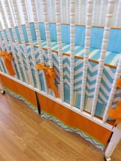 Made to Order 3 pc Chevron Bedding Set by LittleCharlieMay on Etsy, $329.00
