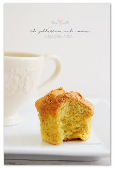 Muffin alle carote e mandorle Almond Muffins, Breakfast Items, Dessert Recipes, Desserts, Blueberry, Food And Drink, Favorite Recipes, Meals, Dishes