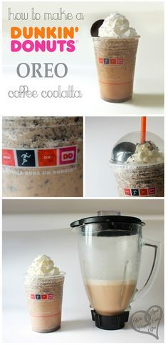 "Since they don't make them anymore, I need to try this! ""How to make a Dunkin Donuts's Oreo Coffee Coolatta"""
