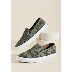 Sperry Park de Triomphe Slip-On Sneaker ($75) ❤ liked on Polyvore featuring shoes, sneakers, flat, sporty, varies, sperry sneakers, perforated slip on sneakers, leather slip on sneakers, leather shoes and green sneakers