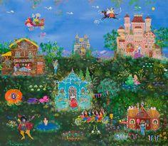 Contemporary Decorative Art, Naive Art, Flower Art, Folk Art, Greek, Artist, Flowers, Painting, Art Floral