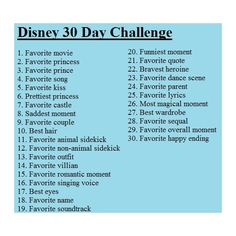 30 Day Disney Challenge! ❤ liked on Polyvore featuring disney, challenges, backgrounds, pictures, words, quotes, text, phrase and saying