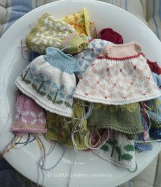 Clothes for little cotton rabbits and friends