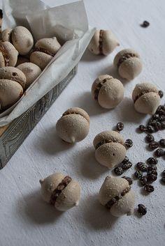 Glutenfree Chocolate Meringues with Espresso Nougat Filling  - Glutenfreie Schokoladenbaiser mit Espresso-Nougat-Füllung
