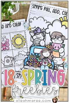 Looking for a few spring activities for kids? Click the pin to check out these 18 free resources for elementary aged kids, in or out of the classroom! Perfect for preschool, kindergarteners, and even 1st and 2nd grade learners.