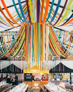 how spectacular is this ribbon installation from an event by the always-whimsical #GreyCollective member @lizlinkleterevents ???: