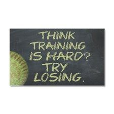 Training Is Hard Fastpitch Soft Car Magnet 20 x 12 Softball Party, Fastpitch Softball, Car Magnets, Training, Motivation, Work Outs, Excercise, Onderwijs, Race Training