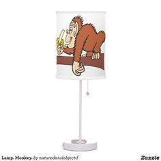 Lamp. Monkey.