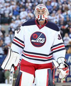 2016 TIM HORTONS NHL HERITAGE CLASSIC - EDMONTON OILERS VS. WINNIPEG JETS WINNIPEG, MB - OCTOBER 23: Connor Hellebuyck #37