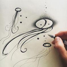 #Pen #drawing #wip #flow #jellyfish  #handiedan #art #artwork #paper #ink #amélie #comic #character #Cosmology #font #type #atoms #particles  #comic #pendrawing #treeoflife #butterfly #floweroflife  #flow #qi #illustration #doodle