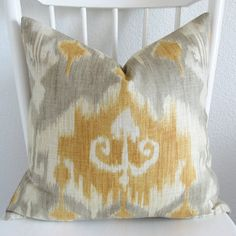 ikat in yellow and gray - we wanted this for our bedroom, not sure now... but still like it!