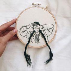 Braids and stitches. #embroidery #embroideryart