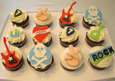 Rock & Roll Cupcakes, via Flickr.