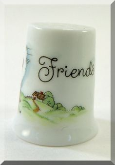 Fine Porcelain Thimble Joan Walsh Anglund Little by DLSpecialties, $12.00