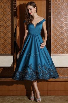 Sue Bryce gets dresses at 80% off here,eDressit Designer Blue Off Shoulder Party Dress for Women (04170905)