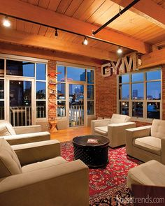 Loft in Columbus has a great view with a plethora of windows. #housetrends