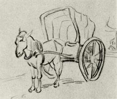Carriage 1890 Vincent van Gogh