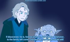 [Warning SPOILERS for The Force Awakens] freakxwannaxbe: That scene in Mulan where all the ancestors are arguing about whose fault it was that Mulan ran off to join the army except with all the Force ghosts arguing about Ben Solo. This is the greatest thing I have ever drawn I am so proud