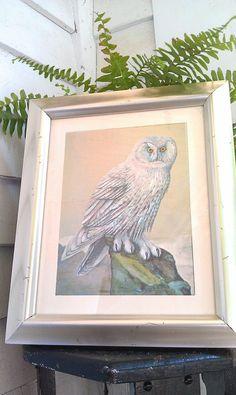 Snowy Owl Print Dufex Foil Art Print Made by AmandolynCozyCottage, $36.00