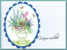 WC Decorative Urn (H2445) with Flower (4052) and Foliage (4051) sets. Card by bearsbydesign.