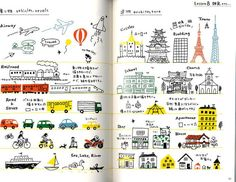 Illustration Book using Colored Pens