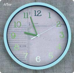 DIY Ombre Paint Chip Clock