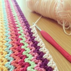 V-stitch crochet blanket made by forever_autumn. Inspiration only, no pattern.