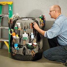 Tire Roo, Turn a Stack of Tires Into Storage with this Cover | Solutions
