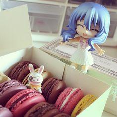 Yoshino likes macarons!! follow me on instagram fraisou22 ^^