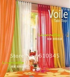 Goedkope Curtains, koop rechtstreeks van Chinese leveranciers: Dit is een voile gordijn, maken uw kamer kleurrijk en beautifuL.grootte is