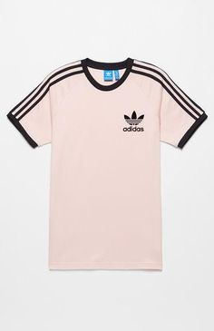 adidas California Pink & Black T-Shirt Teenage Girl Outfits, Lazy Outfits, Teen Fashion Outfits, Trendy Outfits, Cool Outfits, Pink And Black Adidas, Pink Black, Addidas Shirts, Leopard Print Outfits