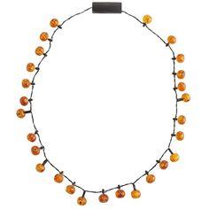 Pier 1 Pumpkin Flashing LED Necklace