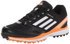 adidas Men's Adizero Sport II Golf Shoe,Black/White/Solar Blue,8 M US