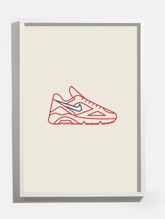 Image of Nike Air 180 Print by Sy #illustrations #sneakers