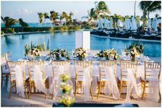 Wedding reception in Cancun, Mexico. Love this!